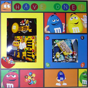 M&M Scrapbooking Idea