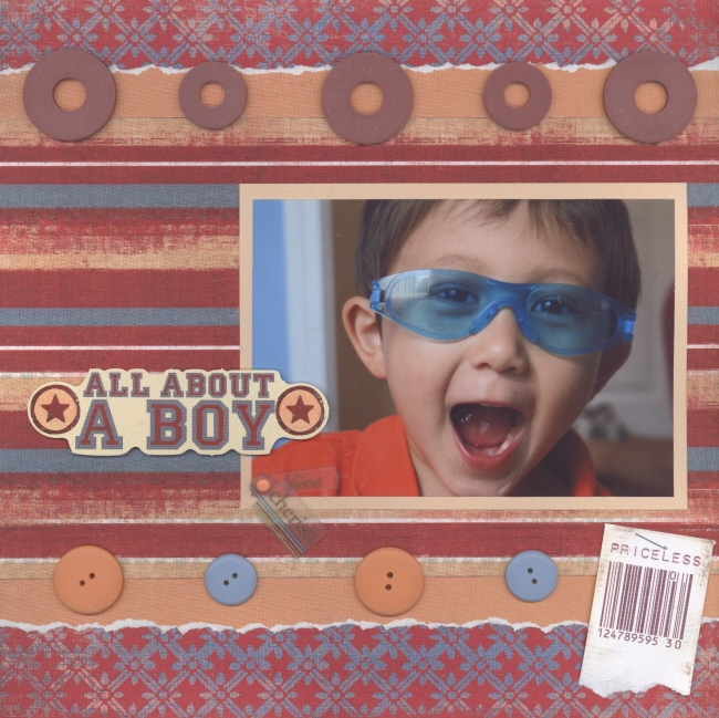 Scrapbooking Page Ideas All About A Boy