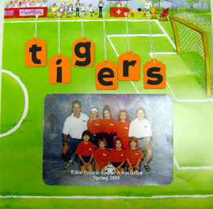 Soccer Scrapbooking Page Layout