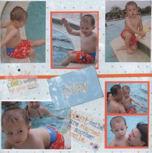 Playing in the Water scrapbook page idea