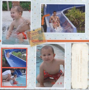 Water Scrapbooking idea