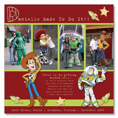 Scrapbooking Page Ideas Woody & Buzz