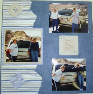 Road Trip Scrapbooking Page