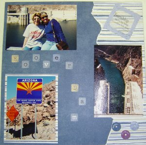 Road Trip Scrapbook Page
