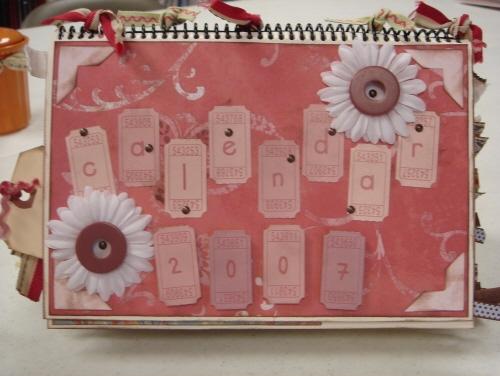 Scrapbooking With Love Page Ideas 6x6 Desktop Calendar
