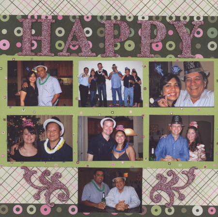 Scrapbooking Page Ideas Happy New Year 2007