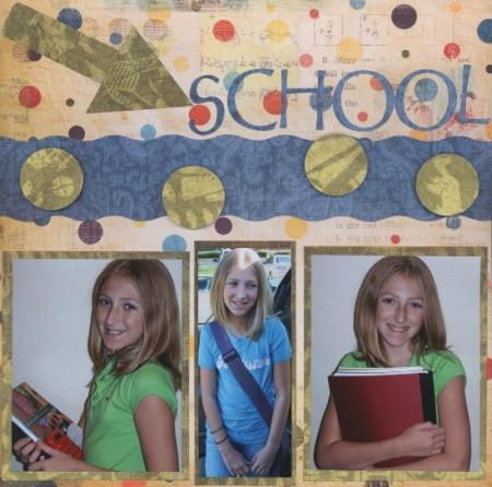 Scrapbooking Page Ideas Back 2 School Kit