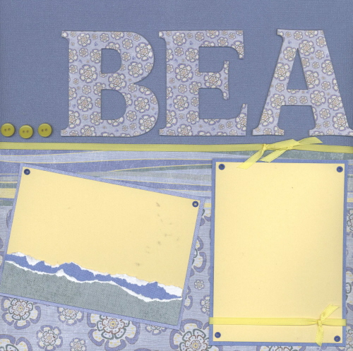 Scrapbooking Page Ideas Beach