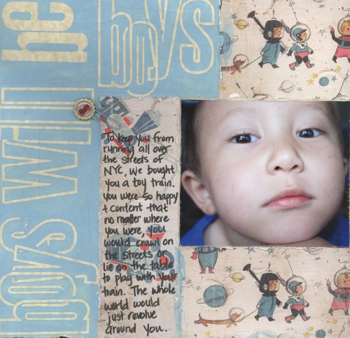 Scrapbooking Page Ideas Boys Will Be Boys