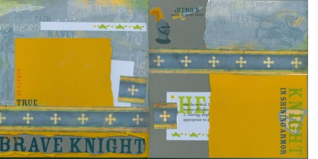 Scrapbooking Page Idea - Brave Knight Kit
