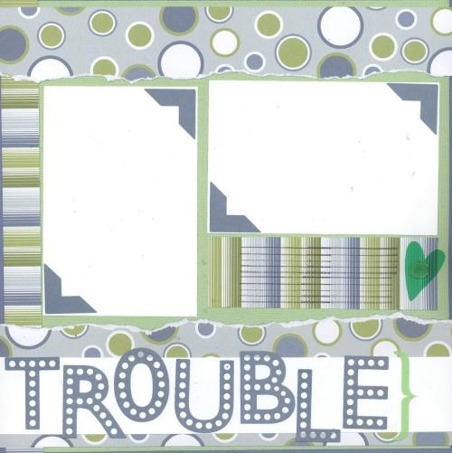 Scrapbooking Page Ideas Bubble Trouble