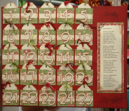 Scrapbooking With Love Class Countdown to Christmas