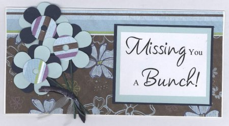 Scrapbooking Page Ideas Missing You A Bunch Card