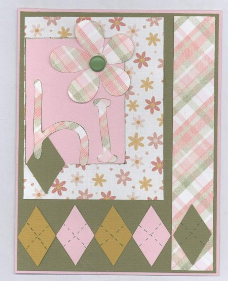 Scrapbooking Page Ideas Hi Card