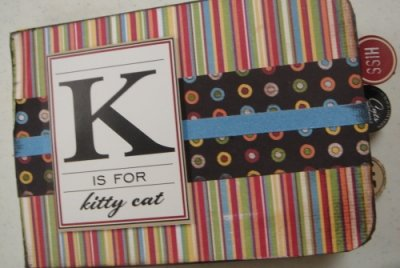 Scrapbooking Page Ideas K is for Kitty Cat Album