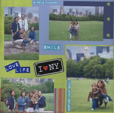 Scrapbooking Page Ideas A Summer Day In Central Park 2006