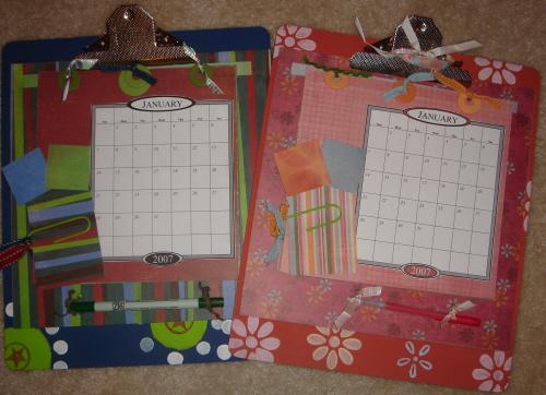 Scrapbooking Page Ideas Clipboard Calendar Class