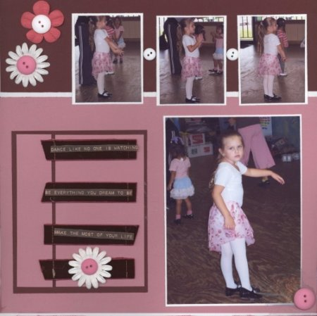 Scrapbooking Page Ideas Dance Like No One is Watching