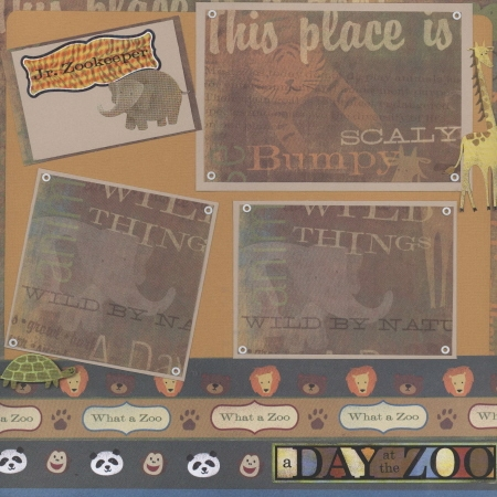 Scrapbooking Page Ideas A Day at the Zoo