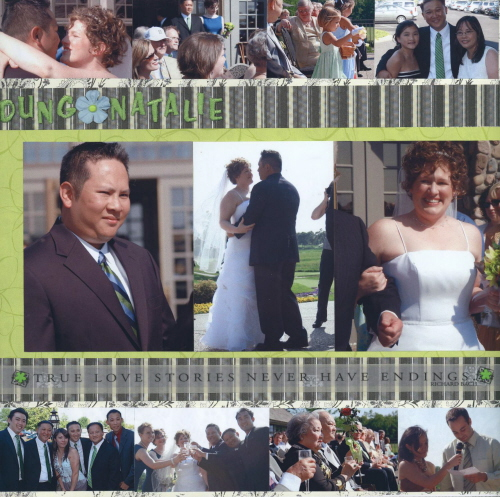 "Scrapbooking Page Ideas Dung and Natalie ""I Do"""