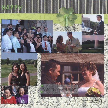 Scrapbooking Page Ideas Dung & Natalie Wedding