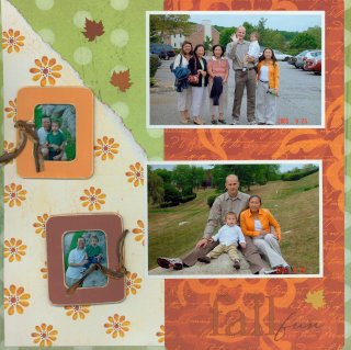 Scrapbooking Page Idea Fall