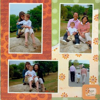 Scrapbooking Page Idea Fall Leaves