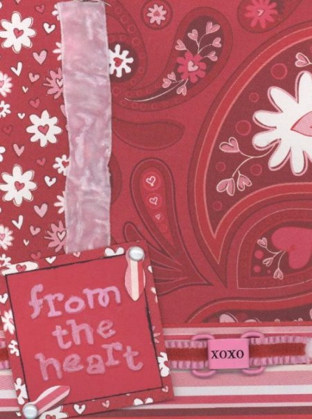 Scrapbooking Page Ideas From The Heart Card
