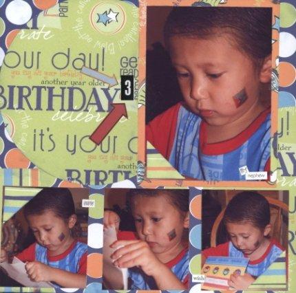 Scrapbooking Page Ideas Happy 3rd Birthday Ian