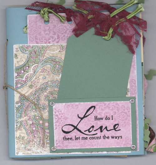 Scrapbooking Page Idea Love Album Class