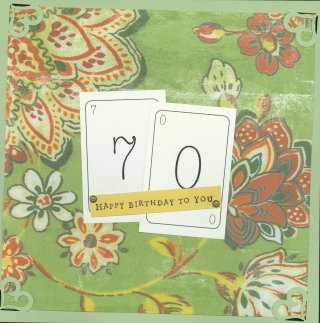 Scrapbooking Page Idea 70th Birthday