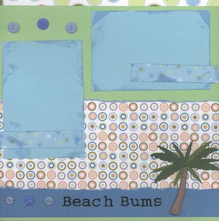 Scrapbooking Page Ideas Beach Bum