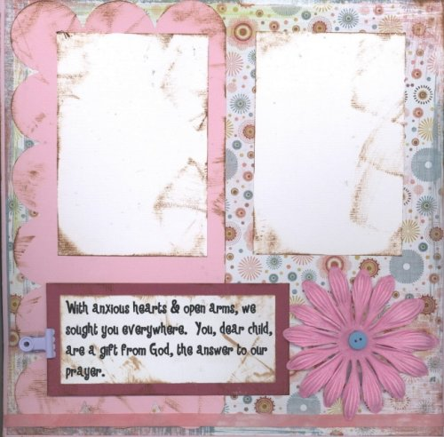 Scrapbooking Page Ideas Our Own Little Miracle (Adoption)
