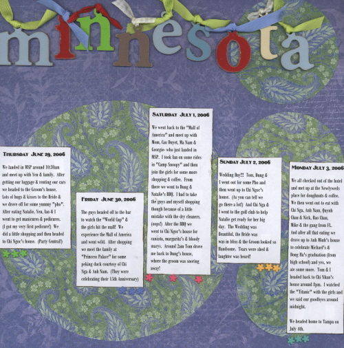 Scrapbooking Page Ideas Minnesota 2006