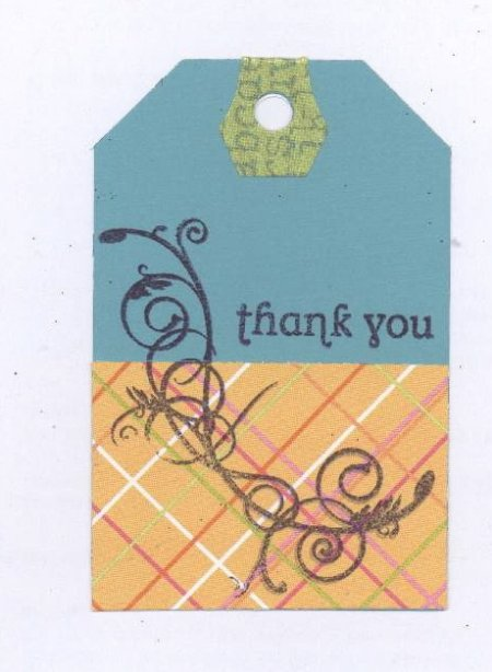 Scrapbooking Page Ideas Thank You Tag