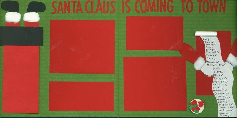 scrapbooking Page Idea Santa Claus is Coming to Town