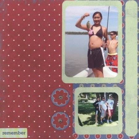 Scrapbooking Page Ideas Big Catch