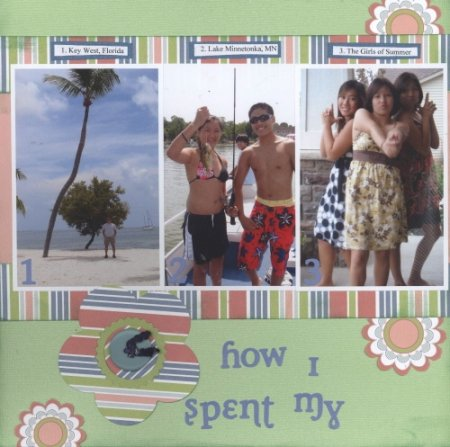 Scrapbooking Page Ideas How I Spent My Summer
