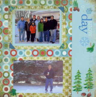 Scrapbooking Page Idea Snow Days