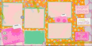 Scrapbooking Page Idea - Sugar n Spice Kit