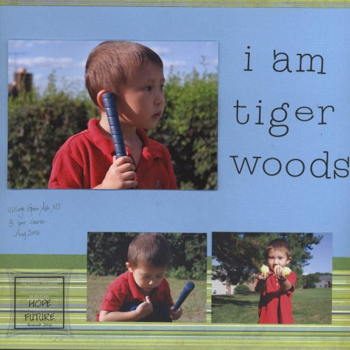 Scrapbooking Page Ideas I Am Tiger Woods