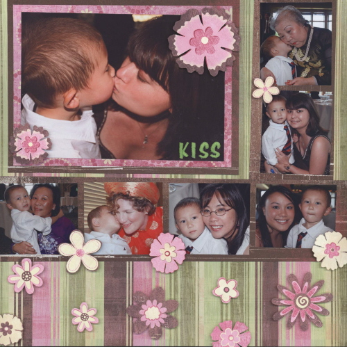 Scrapbooking Page Ideas Kisses from Ian