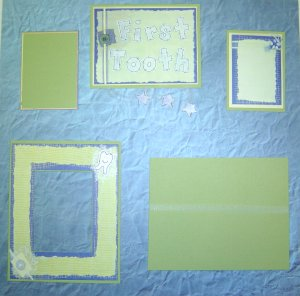 Baby First Tooth Scrapbooking Idea