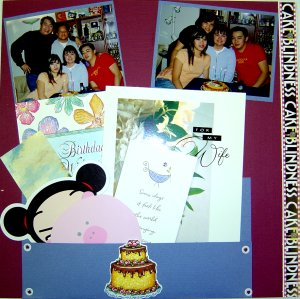 Birthday Party Scrapbooking Idea