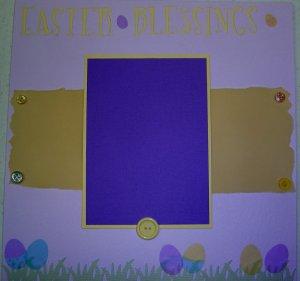 Easter Scrapbooking Idea
