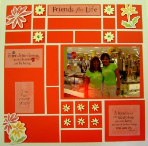 Friends Scrapbooking Page