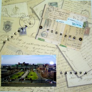 Travel Page - Scrapbooking Idea