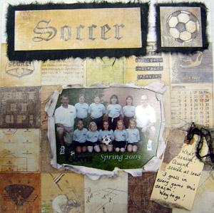 Scrapbook Girl Soccer
