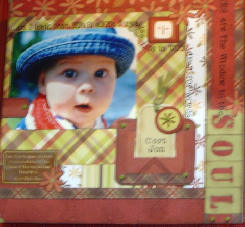 baby scrapbooking idea