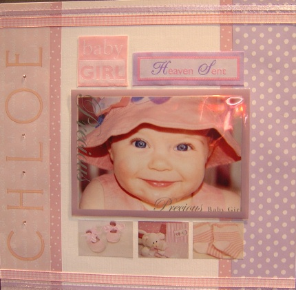 baby idea layout scrapbooking